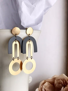 garbo earrings - slate