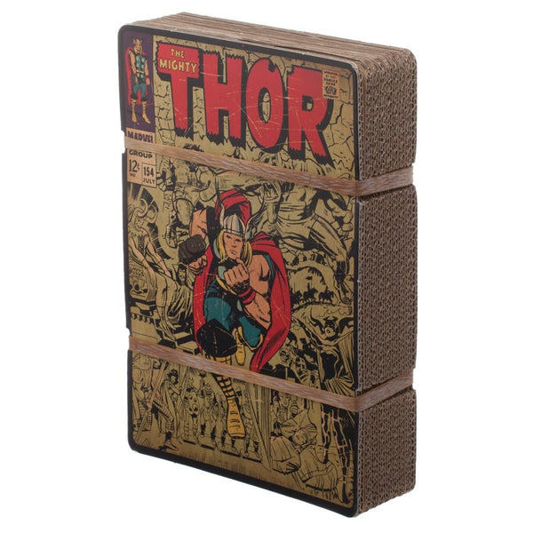 Vintage Thor Marvel Comic Book Cover Artwork Men's Grey Graphic Print Boxed Cotton T-Shirt - Rocky Mt. Outlet Inc - Shop & Save 24/7