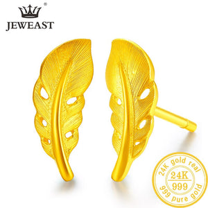 24K Pure Gold Earring Real AU 999 Solid Gold Earrings Nice Good Hollow Ball Tassel Upscale Trendy Fine Jewelry Hot Sell New 2019