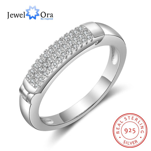 JewelOra 925 Sterling Silver Promise Ring