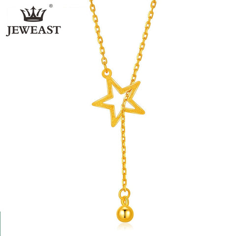 24K AU 999 Solid Gold Charm Necklace Fine Jewelry
