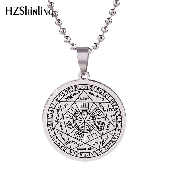 2018 New Stainless Steel Seals Of The Seven Ball Chain  Round Necklace & Pendant