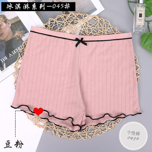 Cotton Women Safety Shorts Girls Pants Breathable Boy Shorts Mid Waist Panties Boxer Shorts Seamless Summer Slimming Underwear