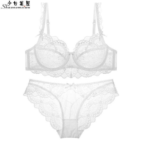 shaonvmeiwu Super thin and sponge-free transparent bra with small breasts