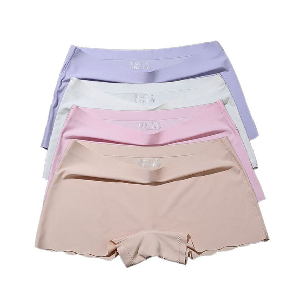 Seamless Short Pants Women Safety Panties Female Boyshorts Female Summer Under Skirt Shorts Lady Boxer Panties Healthy Lingerie