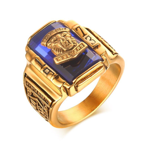 Vnox Men Vintage Signet Ring for Male Jewelry 1973 Walton Tiger High School Stainless Steel Metal