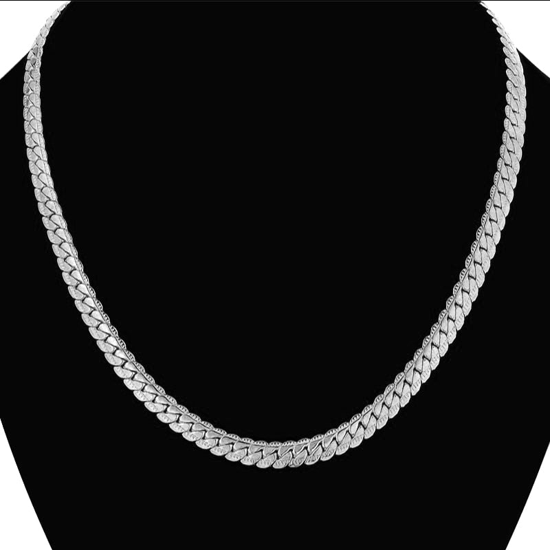 Men's Hip Hop Stainless Steel Snake Chain Necklace 7MM