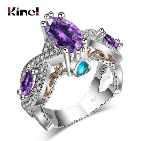 Unique Luxury 15 Different Styles 925 Silver Filled Multi CZ Stone Statement Ring