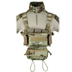 Tactical Micro Chest Rig Modular H Harness D3CR Funny Pack SACK Pouch Combat Vest 5.56 Mag Airsoft