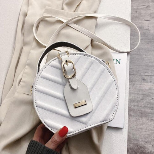 Hot Circular Women Bag Designer PU Leather Ladies Handbags Shoulder Bag Women's Crossbody Messenger Bags
