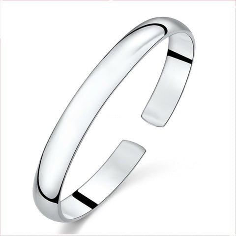925 Sterling Silver Lovely Fashion Handmade Chaise Bangle