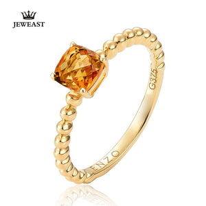 18K Pure Gold Statement Ring Fine Jewelry