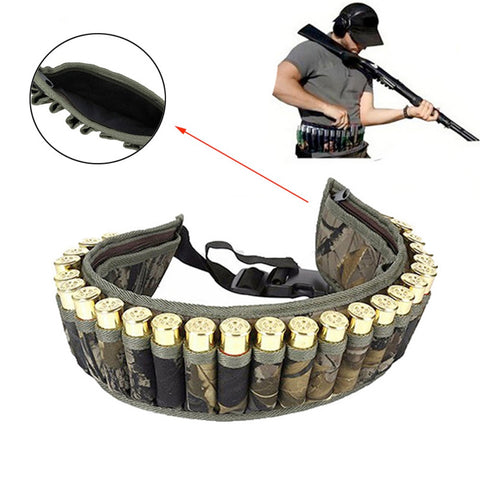 Tactical Gear Molle Padded Waist Belt Shell Bandolier Bullet belt Gauge Ammo Holder Pouch Cartridge