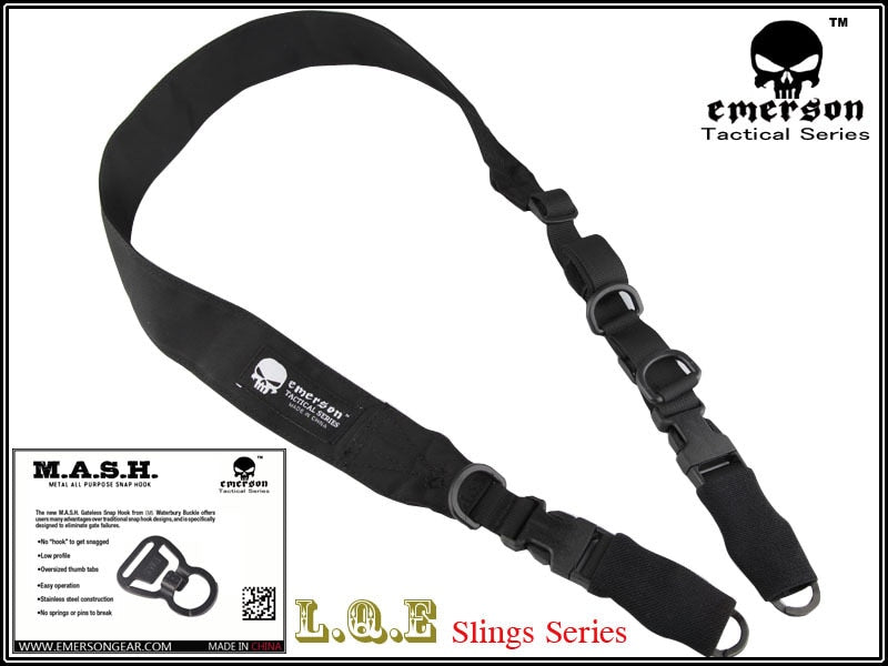 EMERSON L.Q.E One+Two Point Slings LQE Hunting combat tactical gear airsoft BD8490 BLACK