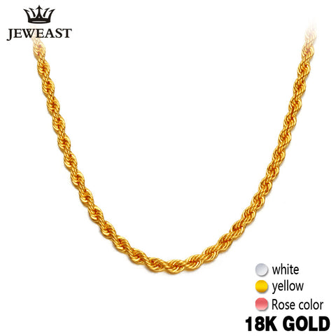 18K Pure Gold Rope Necklace - Rocky Mt. Outlet Inc - Shop & Save 24/7