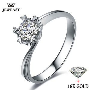 Natural Diamond 18k Gold Wedding & Engagement Snowflake Romantic Ring - Rocky Mt. Outlet Inc - Shop & Save 24/7