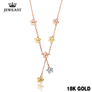 18k Pure Gold Necklace Solid 750 Chain Lucky Clover - Rocky Mt. Outlet Inc - Shop & Save 24/7