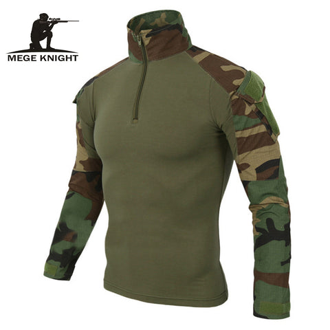MEGE 12 Camouflage colors US Army Combat Uniform military shirt cargo multicam Airsoft paintball tactical cloth with elbow pads - Rocky Mt. Outlet Inc - Shop & Save 24/7