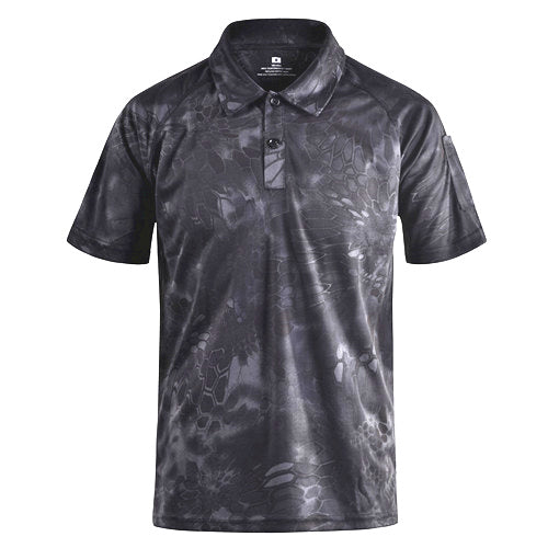 Mege Brand Clothing Men's Shirts Tactical Camouflage Polo Shirt Summer Casual Clothing With Patches Typhon Multicam Fast Dry - Rocky Mt. Outlet Inc - Shop & Save 24/7