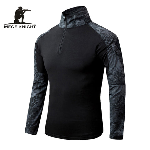 MEGE Men Military Airsoft Combat Shirt Frog Shirt, Tactical Gear Multicam Typhon Lightweight Rapid Assault Long Sleeve Shirt - Rocky Mt. Outlet Inc - Shop & Save 24/7