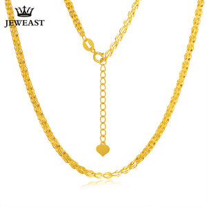 18K gold necklace Pterisaur necklace color gold clavicle necklace adjustable heart core tail gold necklace female models classic - Rocky Mt. Outlet Inc - Shop & Save 24/7