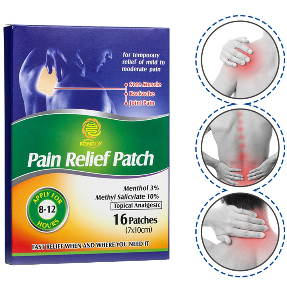 KONGDY 16 Pieces Pain Relief Patch 7*10 CM Chinese Medical Back/Muscle Pain Killer Health Care Neck/Arthritis Pain Reliever