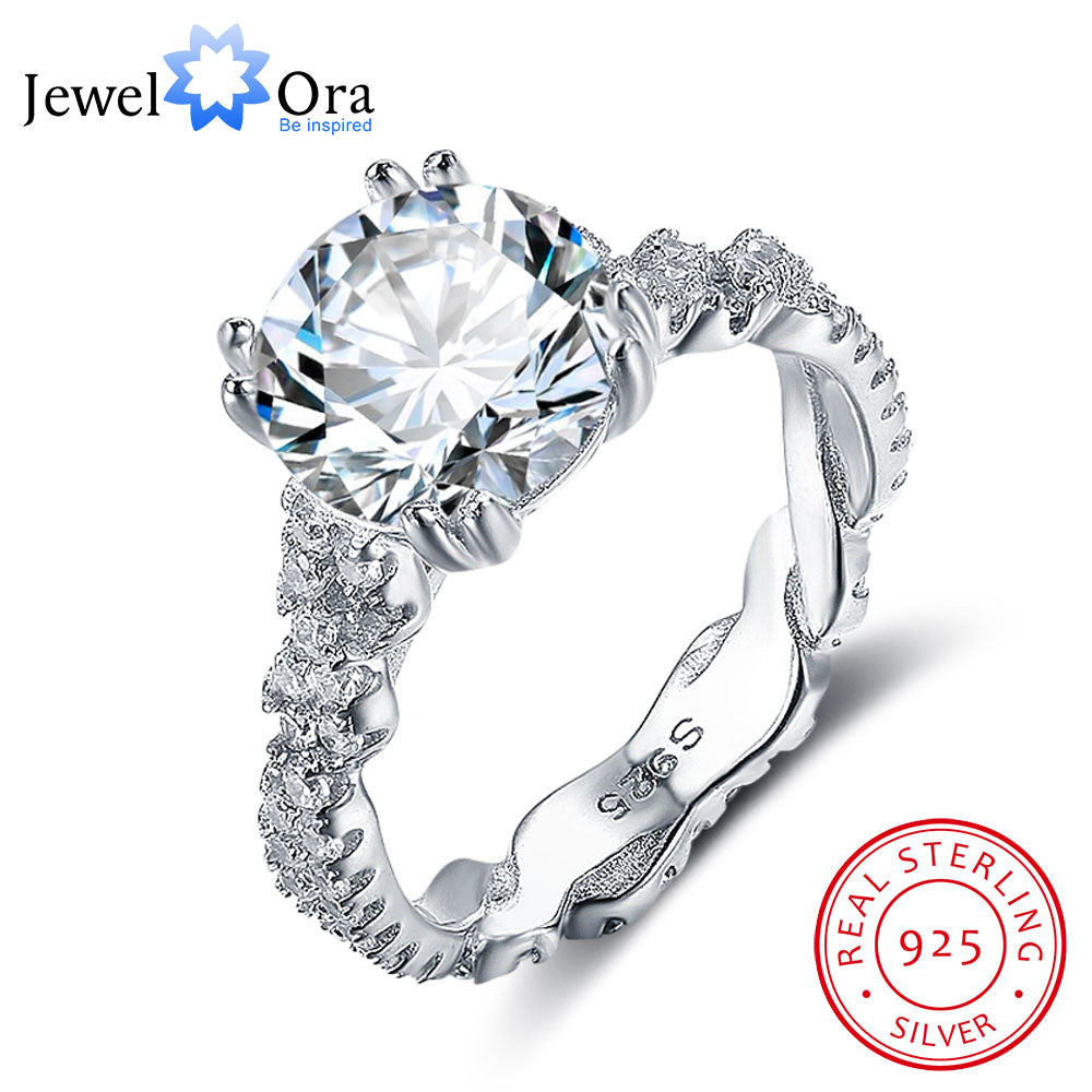Gorgeous 10mm 3.5 CT Round Cut CZ 925 Sterling Silver Ring - Rocky Mt. Outlet Inc - Shop & Save 24/7