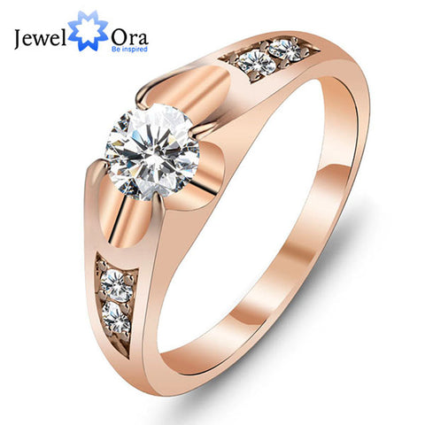 Unisex Stunning Rose Gold Color Polished Antique Wedding Ring - Rocky Mt. Outlet Inc - Shop & Save 24/7
