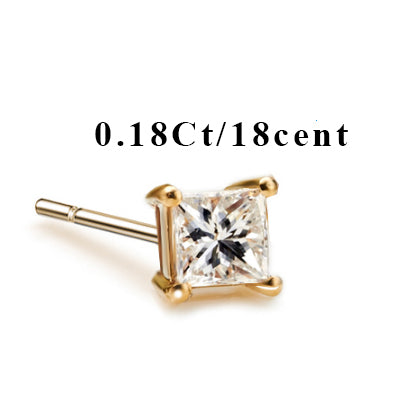 18k Pure Gold White Yellow Natural Stud Earrings Classic Elegant Simple Noble Wedding Jewelry Gift Hot Sale 2017 New - Rocky Mt. Outlet Inc - Shop & Save 24/7