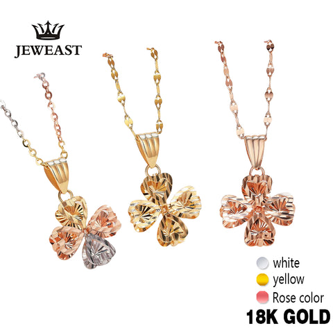 Real 18K Gold Multi-Tone Pendant Necklace Fine Jewelry - Rocky Mt. Outlet Inc - Shop & Save 24/7