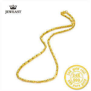 24k Chain Necklace Pure  AU999 Solid Gold - Rocky Mt. Outlet Inc - Shop & Save 24/7