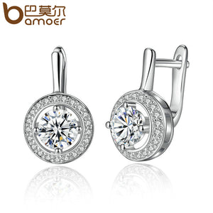 BAMOER New Arrival Silver Color Round Shape Full Of Love Dangle Earrings - Rocky Mt. Outlet Inc - Shop & Save 24/7
