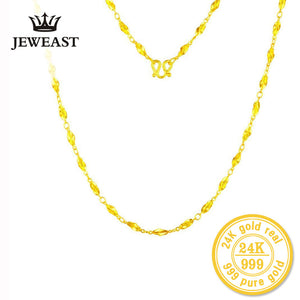 24k Pure Gold Exquisite Long Chain Necklace - Rocky Mt. Outlet Inc - Shop & Save 24/7