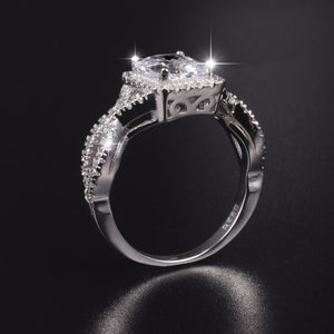 925 Sterling Silver 5ct Simulated Diamond Engagement Ring size 5-10