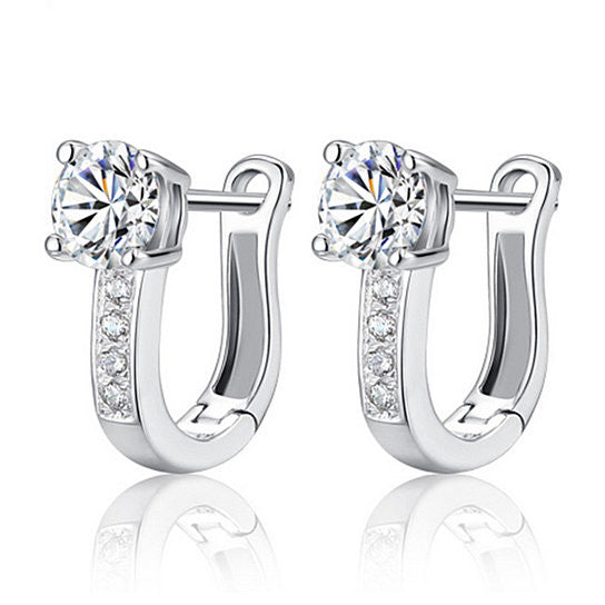Sterling Silver Simulated Diamond Huggie Earrings - Rocky Mt. Outlet Inc - Shop & Save 24/7