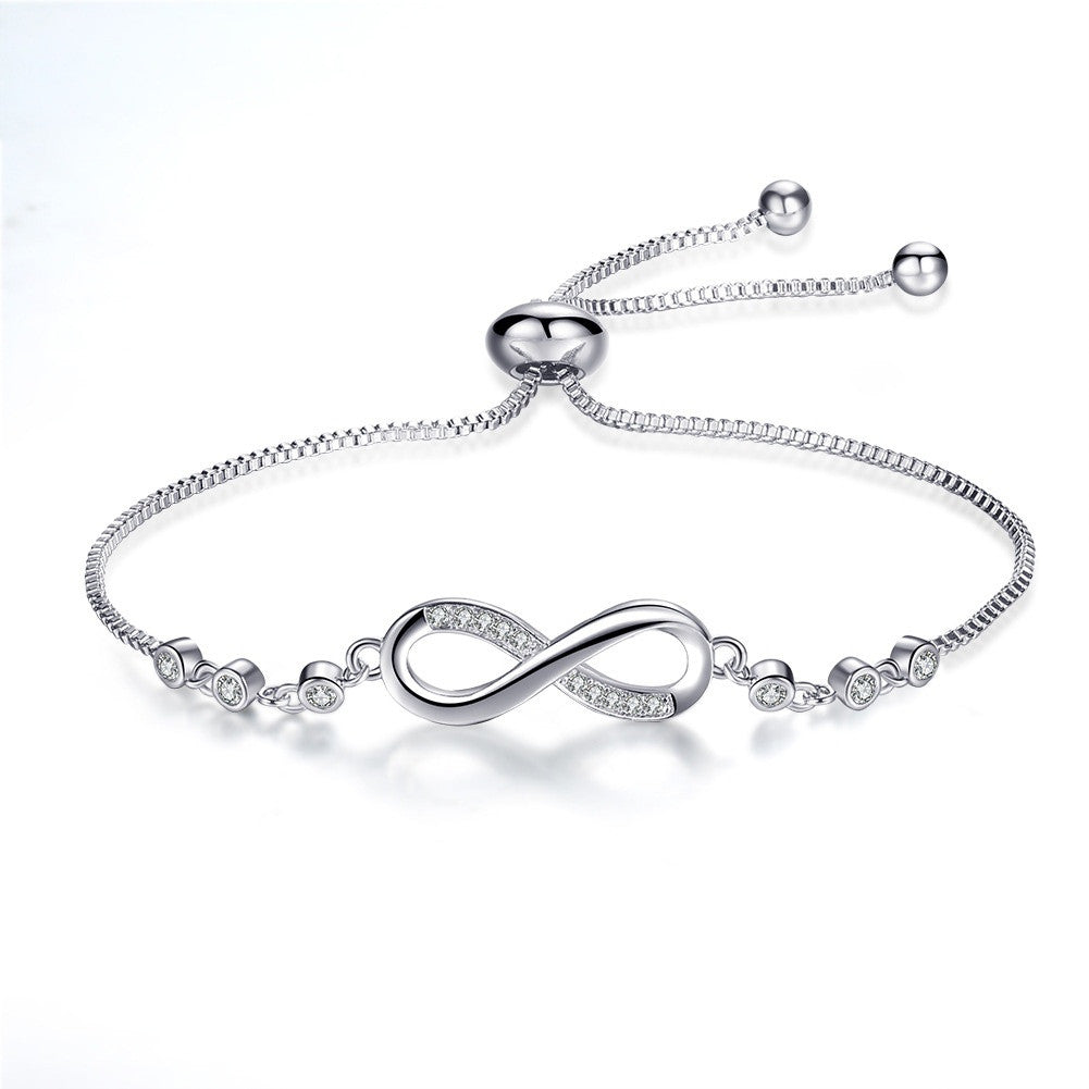 Elegant Diamond Charm Bracelet Love 925 Siver Female Bracelet - Rocky Mt. Outlet Inc - Shop & Save 24/7