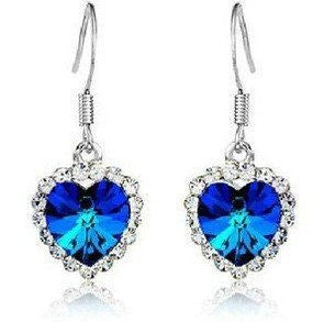 Classic Love Colorful Heart - Heart of Ocean Earrings - Rocky Mt. Discount Outlet