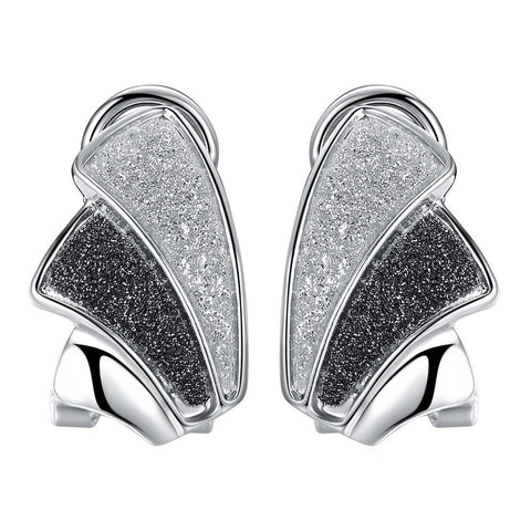 Viennois Silver Women Stud Earrings Black & White Earrings Female Small Earrings Trendy Jewelry - Rocky Mt. Outlet Inc - Shop & Save 24/7
