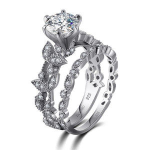 White Sapphire Diamond Wedding Engagement Ring - Rocky Mt. Outlet Inc - Shop & Save 24/7