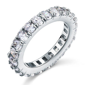Oval Cut Eternity Sterling 925 Silver Simulated Diamond Ring - Rocky Mt. Outlet Inc - Shop & Save 24/7