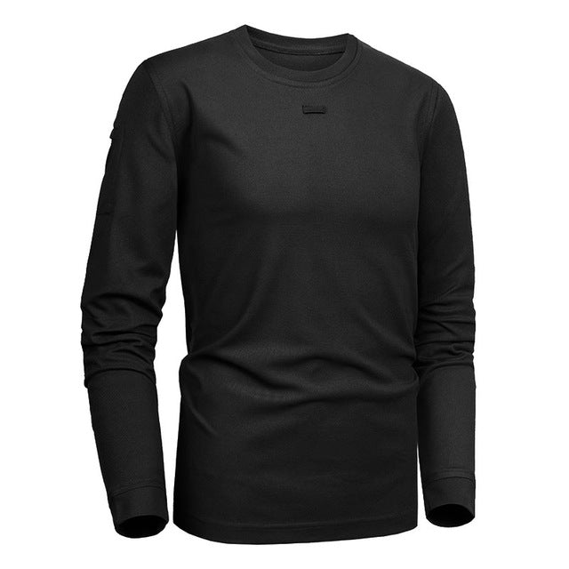 MEGE Brand Tactical Military Clothing Men's shirt Dropshipping Solid Coolmax Quick-drying Long Sleeve Army Casual Male Tee Shirt - Rocky Mt. Outlet Inc - Shop & Save 24/7