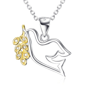 S925 Sterling Silver Jewelry Peace Messenger Pigeon Shape Pendant Fashion Necklace - Rocky Mt. Outlet Inc - Shop & Save 24/7