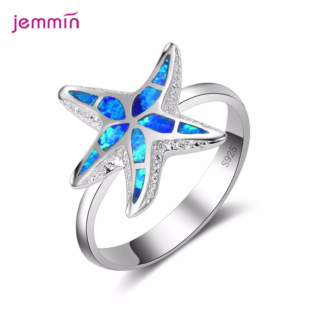 925 Sterling Silver Starfish Design Ring