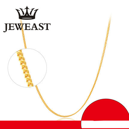 24K Pure Gold Necklace Real AU 999 Solid Gold Chain Smooth & Elegant - Rocky Mt. Outlet Inc - Shop & Save 24/7
