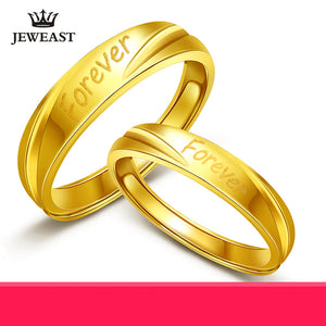 24K Pure Gold Real AU 999 Solid Gold Romantic Forever Letter Ring - Rocky Mt. Outlet Inc - Shop & Save 24/7