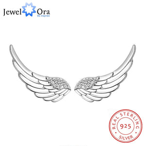 Trendy 925 Sterling Silver Fashion Stud Angel Wing Earrings - Rocky Mt. Outlet Inc - Shop & Save 24/7