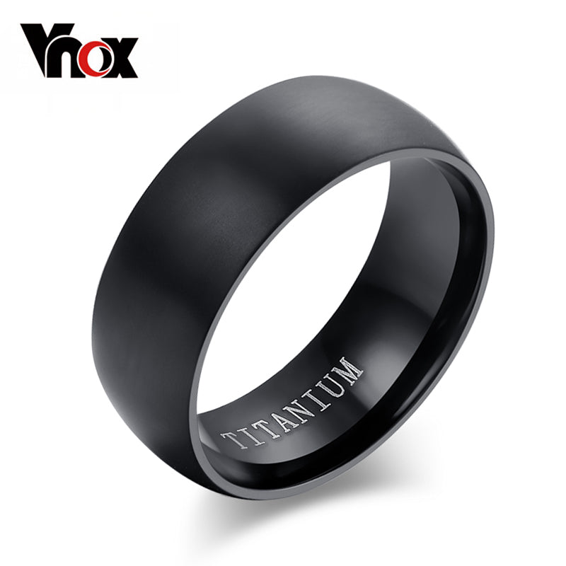 100% Titanium Rings For Men 8mm Cool Black Men' Ring Jewelry Wedding Engagement Male Gift Aliexpress sales - Rocky Mt. Discount Outlet
