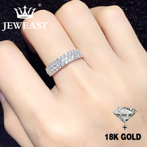 Natural Diamond 18K Gold AU 750 Statement Ring Fine Jewelry