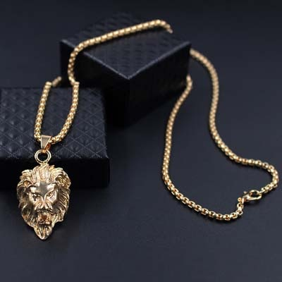 Lion Stainless Steel Chain Necklaces Pendant For Men