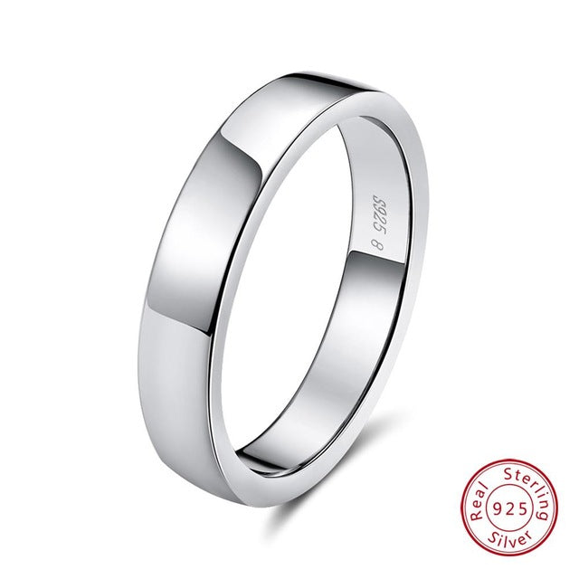 925 Sterling Silver Wide Band Men's Wedding Rinf